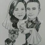 Caricatura-casament